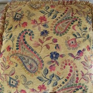 Bundle of two Paisley Pillows NWOT